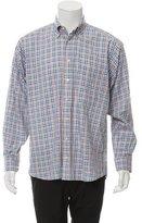 Burberry Plaid Button-Up Shirt