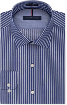 Tommy Hilfiger Men's Slim-Fit Non-Iron Color Ground Stripe Dress Shirt
