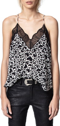 Zadig & Voltaire Christy Silk & Lace Camisole