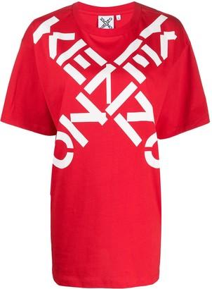 Kenzo Bold Logo Cross Cotton T-Shirt