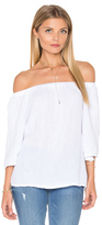 Michael Stars Double Gauze Off Shoulder Top