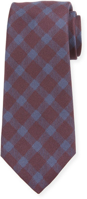 Kiton Men's Gingham Check Silk Tie