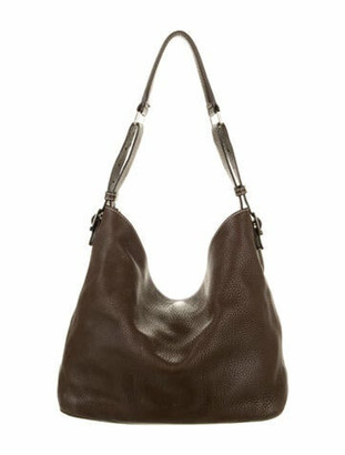 Tiffany & Co. Pebbled Leather Hobo Brown