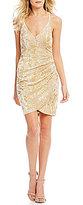 B. Darlin Foiled Print Velvet Dress