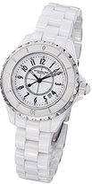 Stuhrling Original Women's 'Vogue' Quartz Stainless Steel Casual Watch, Color:White (Model: 530.11EW3)