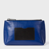 Paul Smith Women's Navy Leather Make-Up Bag