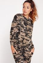 Missguided Camo Print Sweatshirt Multi