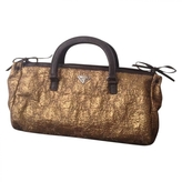 Prada brocade bag handbag gold