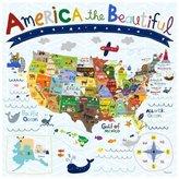 Oopsy Daisy Fine Art For Kids Oopsy Daisy's Beautiful America Canvas Wall Art - Size 18x18