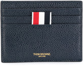 Thom Browne Card Holder With Note Compartment In Pebble Grain
