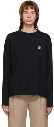 MAISON KITSUNÉ Black Fox Head Long Sleeve T-Shirt