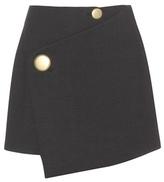 Balenciaga Wool wrap miniskirt