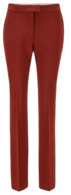 HUGO BOSS Extra-long boot-cut trousers in stretch virgin wool