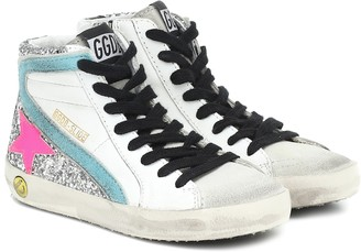 Golden Goose Kids Lea high-top leather sneakers