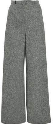 Lanvin Melange Wool Wide-leg Pants