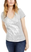 INC International Concepts Inc Snake-Embossed Graphic Top, Created For Macy's