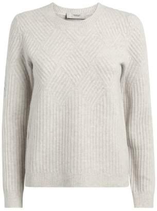 Pringle Diamond-Ribbed Cashmere-Wool Sweater