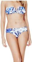 GUESS Blue Floral-Print Cheeky Bikini Bottoms