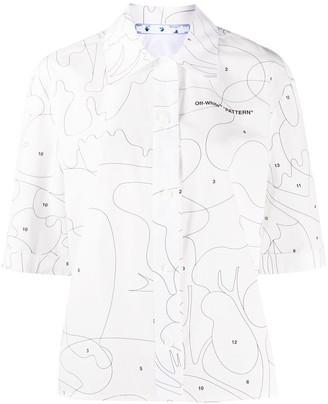 Off-White Puzzle boxy shirt