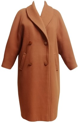Non Signé / Unsigned Non Signe / Unsigned Orange Wool Coat for Women Vintage