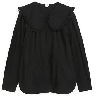 Arket Wide-Collar Blouse