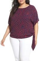 MICHAEL Michael Kors Plus Size Women's Nyla Print Side Tie Top