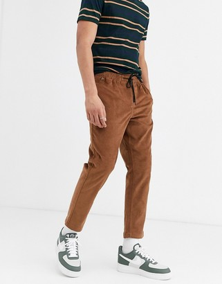 New Look pull on cord trousers in tan