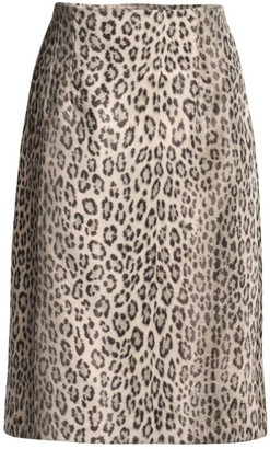 Seventy Leopard-Print Pencil Skirt