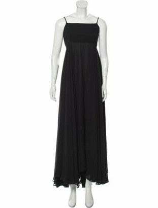 Dolce & Gabbana Square Neckline Long Dress Black