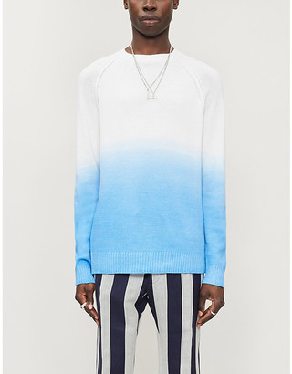 Alanui Dip-dyed wool, cashmere and cotton-blend jumper