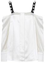3.1 Phillip Lim Off-the-shoulder silk satin blouse