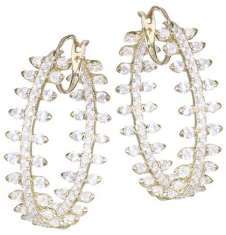 Adriana Orsini Goldplated & Cubic Zirconia Pave Hoop Earrings