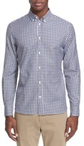 MAISON KITSUNÉ Men's Embroidered Fox Gingham Sport Shirt