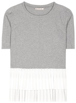 Marni Ruffled Cotton T-shirt