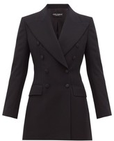 Dolce & Gabbana Double-breasted Tailored Wool-blend Blazer - Womens - Black
