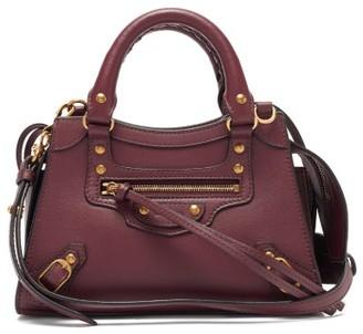 Balenciaga Neo Classic Mini Leather Bag - Burgundy