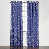Wisteria Embroidered 84-Inch Room-Darkening Grommet Top Window Curtain Panel Pair