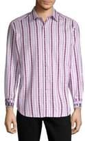Robert Graham Treton Cotton Button-Down Shirt