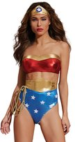 Dreamgirl Women's Superhero-themed Bustier and Panty