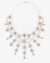 Le Château Gem & Pearl-Like Floral Necklace