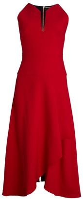 Roland Mouret Jackson Sleeveless Ruffle Cocktail Dress