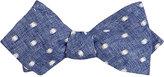 Thomas Mason Men's Dot-Embroidered Duke Bow Tie-BLUE