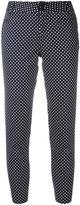 Steffen Schraut polka dot cropped trousers - women - Cotton/Spandex/Elastane - 38