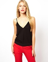 Asos Cami Top with Sheer Insert