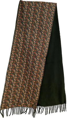 Salvatore Ferragamo Green Cashmere Scarves & pocket squares