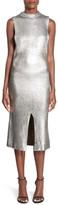 MinkPink &Shine Bright& Mock Neck Midi Dress