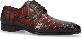 Magnanni Crocodile Leather Derby Shoes
