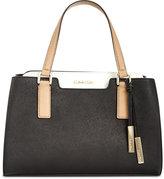 Calvin Klein Saffiano Leather Satchel