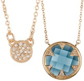Melinda Maria Tessa Blue Topaz & CZ Pendant Necklace Set