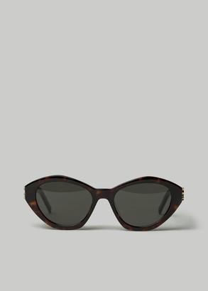 Saint Laurent Women's Monogram Tortoise Frame Sunglasses in Havana